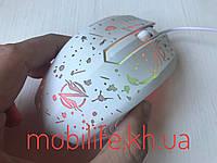 Мышка проводная Игровая Ripper Белая/Computer mouse Ripper/Подсветка разные режими/