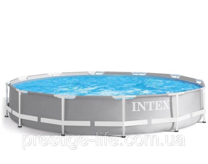 Каркасный бассейн Intex 26710 PRISM FRAME POOL (366 x 76 см), 6503 л