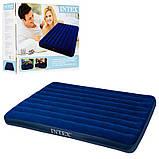 Надувной матрас с подушками и насосом Intex 152 х 203 х 25 см.,2 подушки, с ручным насосом, в коробке 64765, фото 6