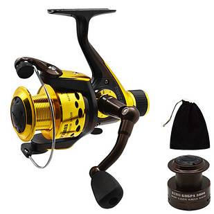 Катушка для удочки, спиннинга рыболовная STENSON King Cobra 3000 3ВВ
