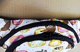 Поясная сумка Бананка сумка на пояс тканевая с ярким принтом молодежная, фото 2