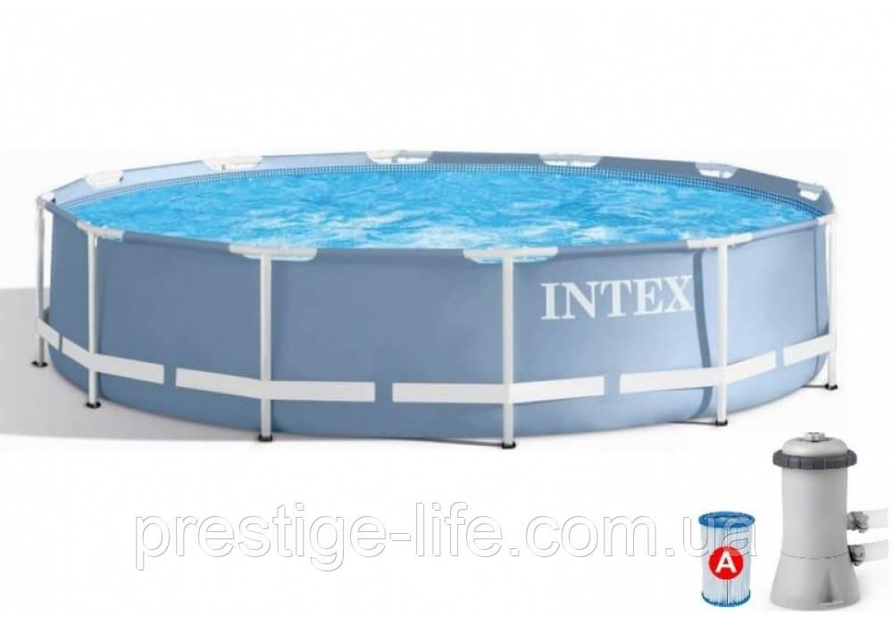 Каркасный бассейн Intex 26712 PRISM FRAME POOL с насос-фильтром (366*76 см), 6503 л
