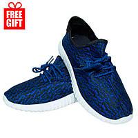 Кроссовки Adidas Yeezy Boost 350 Синие (36-41 р.) + Подарок