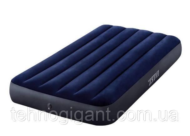 Надувной матрас Intex, велюровый, 191х99х25 см одноместный , пляжный, в коробке, 64758