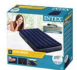 Надувной матрас Intex, велюровый, 191х99х25 см одноместный , пляжный, в коробке, 64758, фото 3