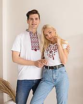 Парні футболки вишиванки для всієї сімї Орнамент червоний, фото 2