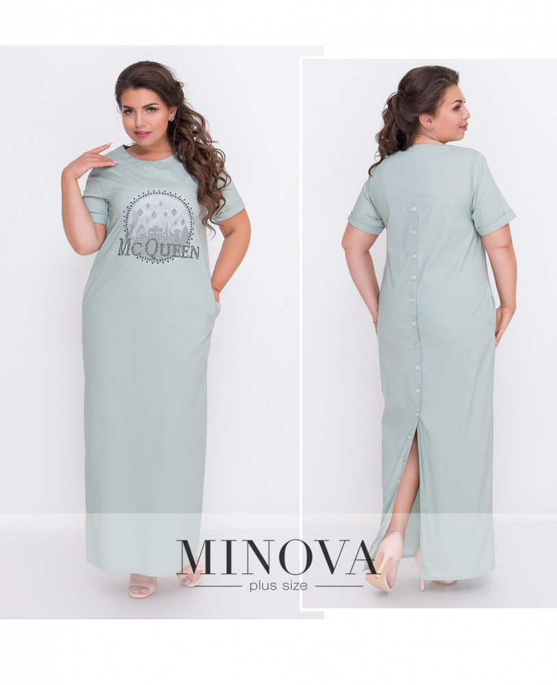 Платье №00042-ментол