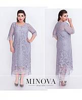 Платье №18-11-серый