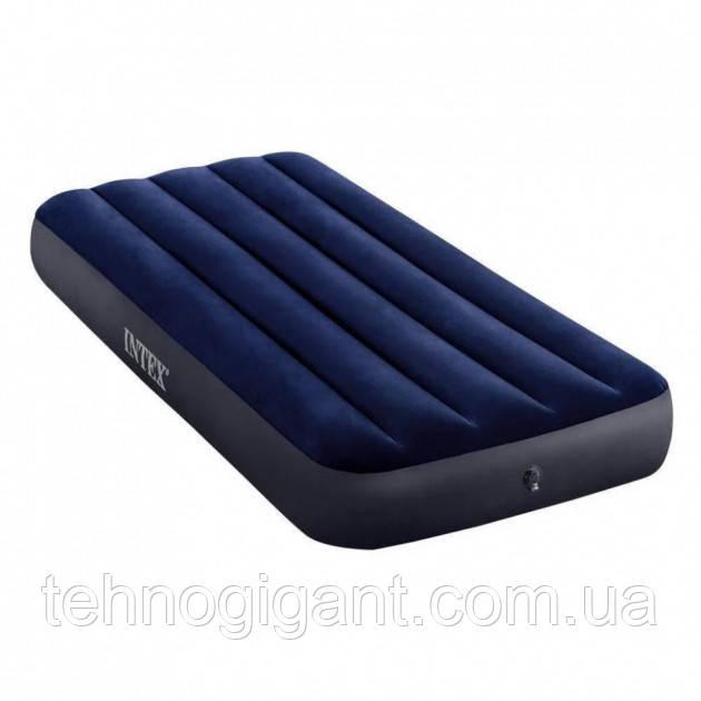 Intex Надувной матрас, велюровый, 191х76х25 см одноместный , пляжный, для сна, в коробке, 64756