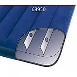 Intex Надувной матрас, велюровый, 191х76х25 см одноместный , пляжный, для сна, в коробке, 64756, фото 4