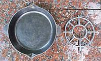 Чугунная сковорода СССР.Подставка под горячее.Клеймо.