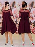Женское свободное платье  батал с 48 по 62 рр евро костюмка, фото 6