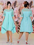 Женское свободное платье  батал с 48 по 62 рр евро костюмка, фото 4