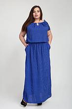 Летнее длинное женское штапельное платье р.52-58