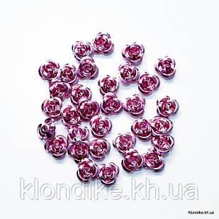 Розочки из алюминия, 11 мм, Цвет: Сиреневый (35~40 шт.)