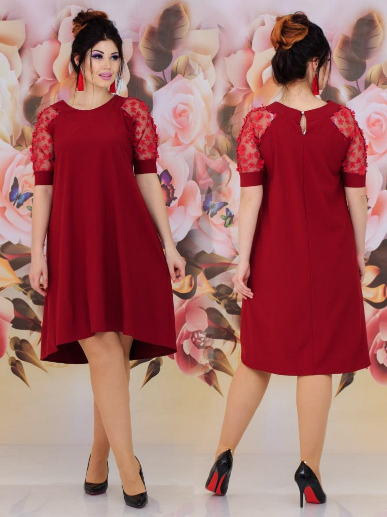 Женское красивое платье  батал с 48 по 62 рр евро костюмка