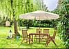 Стіл складаний і парасольку для саду, фото 4