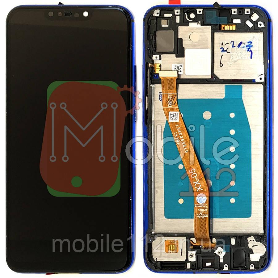 Экран (дисплей) Huawei P Smart Plus INE-LX1 LX1r LX2r AL00 TL00, Nova 3i + тачскрин черный с передней панелью