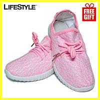 Кроссовки Adidas Yeezy Boost 350 Розовые (36-42 размер) + Подарок, фото 1