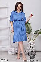 Модное льняное платье женское 50-56 р , доставка по Украине