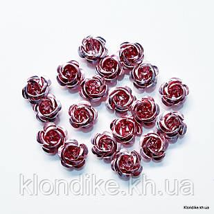 Розочки из алюминия, 15 мм, Цвет: Сиреневый (17~19 шт.)