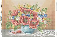 Схема для вышивания бисером ''Маки в вазе с оранжевым фоном'' А2 42x59см