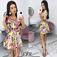 Женское короткое платье с 42 по 48 рр супер софт