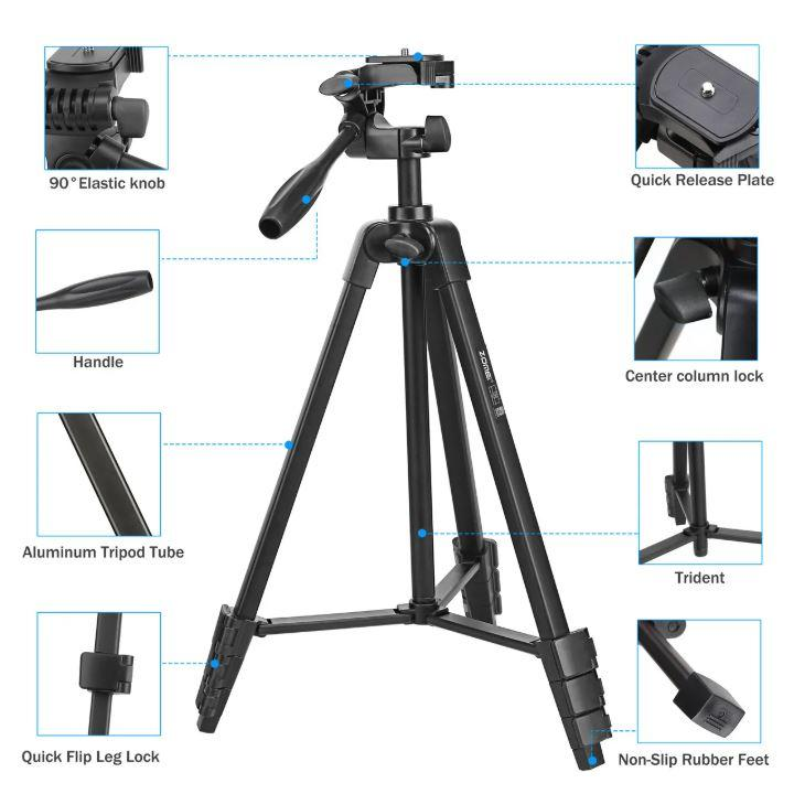 Штатив T90 фирмы Zomei для фотоаппаратов, камер, телефонов