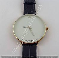Мужские часы Movado 013457 золотистые с белым циферблатом
