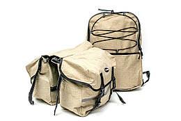 Велобаул (сумка- штаны) 43x29x10cm песочный BRAVVOS F-091