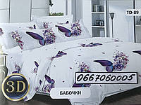 """Комплект постельного белья """"Тиротекс"""" - Бабочки (2х - двухспальный размер)"""