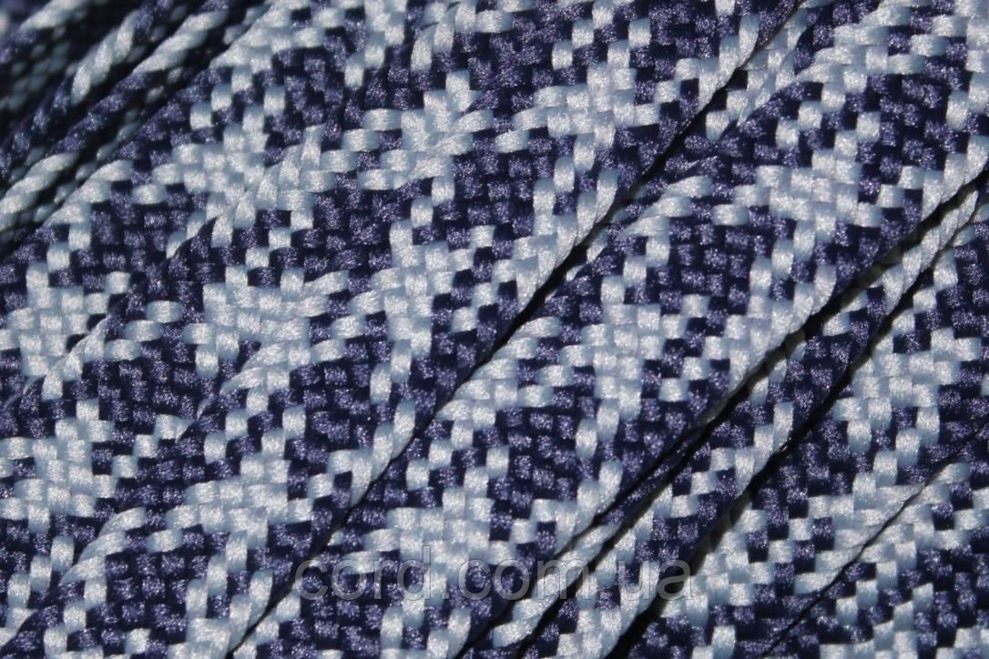 Шнур плоский тесьма 12мм (100м) синий+светло серый