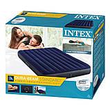 Intex Надувной матрас с велюровым покрытием, двухместный, 152х203х25 см, в коробке 64759, фото 6