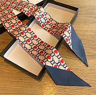 Шелковая лента - платок твилли Gucci (Гуччи)