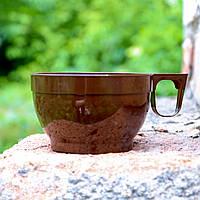 Топ! Чашка одноразова 150 мл пластикова 7.5х4.5 см одноразова, Коричнева