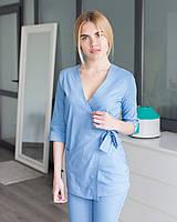 Медицинский женский костюм Шанхай голубой, фото 1