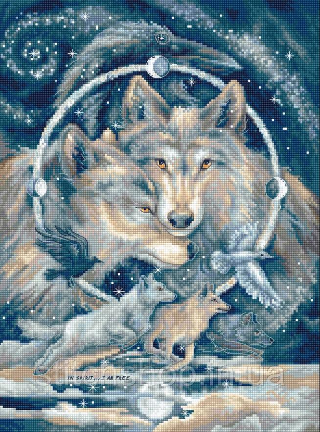 Набор для вышивания нитками LETISTITCH  In spirit…I am free (LETI 955)