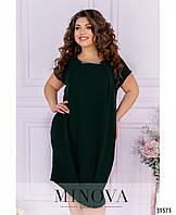Платье №126-темно-зеленый, фото 1