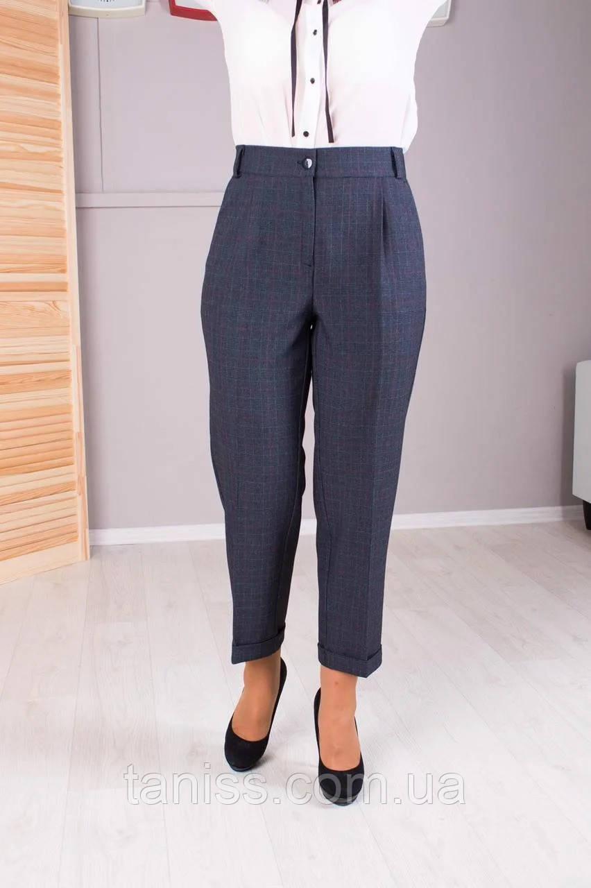 """Женские  брюки """"Зария"""",ткань тиар, размеры 44,46,48 50,52,54,56  серые,брюки"""