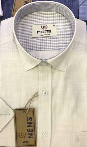 Лляна сорочка однотонна Nens, фото 2