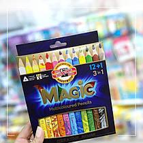 Карандаши цветные koh-i-noor MAGIC 12шт + блендер, 340801