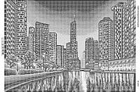 Схема для вышивания бисером ''Вечерний город 2'' А2 42x59см