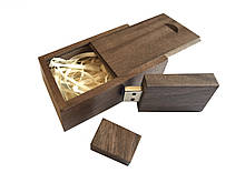 Флешка SUNROZ Wooden USB Flash Drive деревяный флеш накопитель в коробке 16 Gb USB 3.0 Темное дер, КОД: 197142