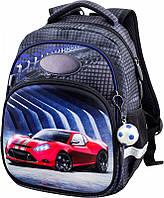Рюкзак школьный для мальчика 6 лет в 1-3 класс Машина Winner One 1710 13 л. 34*25*16 см
