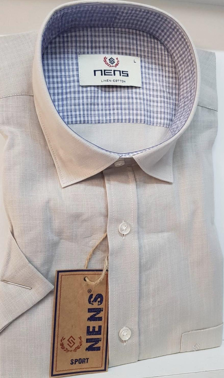 Лляна сорочка однотонна Nens