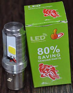 Лампа фары LED BA20D 2 диода со стабилезатором (2760)
