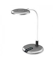 Диммируемый настольный светильник 8Вт 3000K-4000К-6000К DE1731 серебро