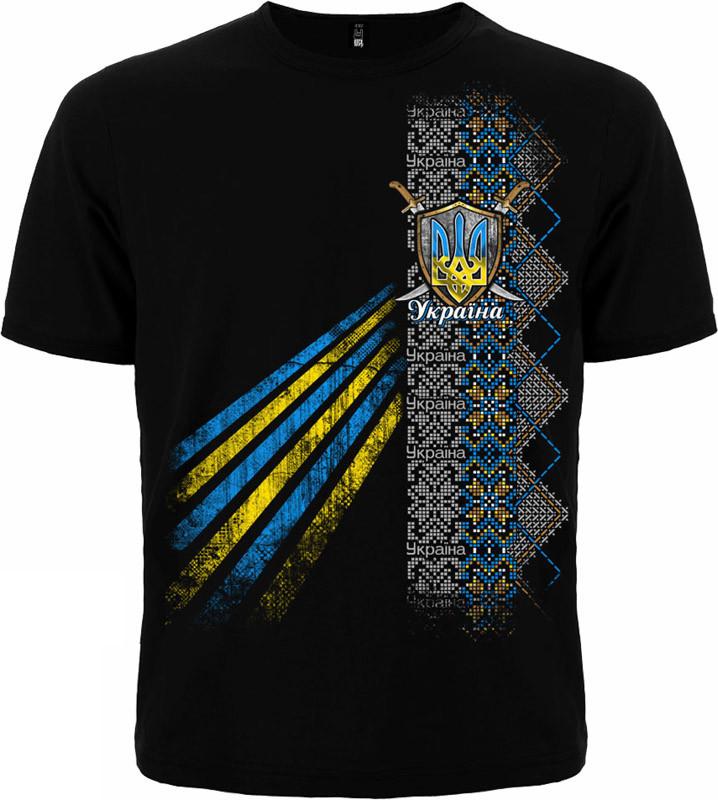 """Мужская футболка """"Узор"""" с тризубом - размер M (46)"""
