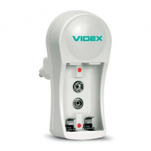 Компактний зарядний пристрій зарядка для акумуляторів VIDEX VCH-N201 з LED індикаторами Білий
