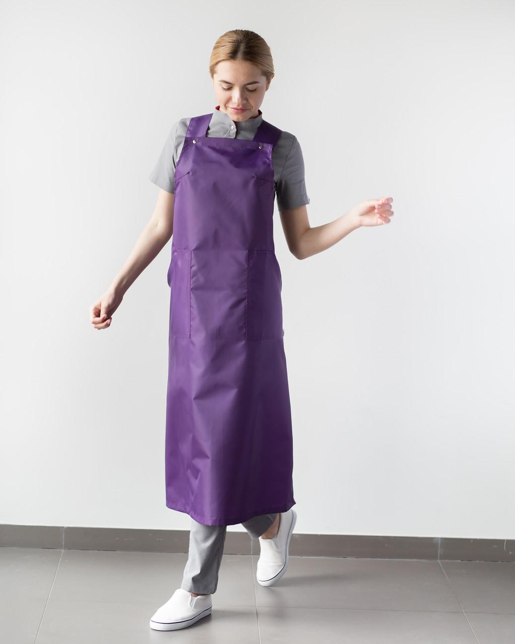 Фартух для майстрів сфери послуг, фіолетовий
